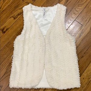 Girls cream colored vest